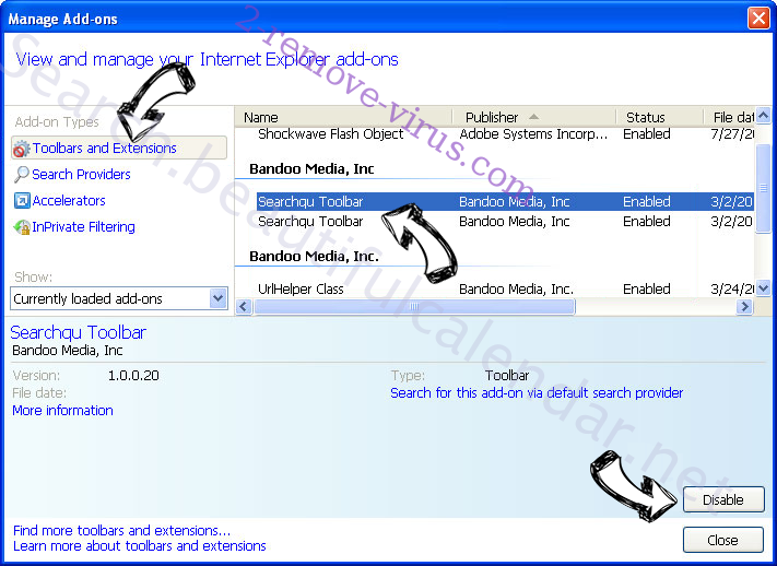 Eliminar Bronze Aid IE toolbars and extensions