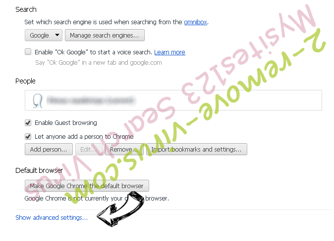 Booking.com Redirect Chrome settings more