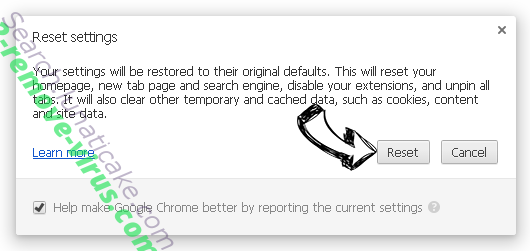 DeReporting Chrome reset