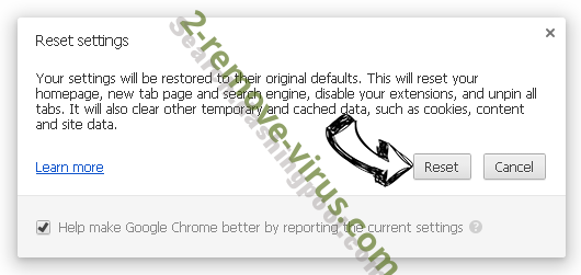 UFindMedia.com Chrome reset