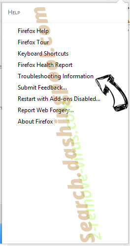 Search.dashingpool.com Firefox troubleshooting