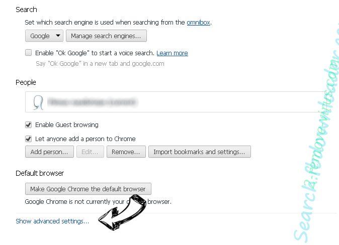 Search.mysearch.com Chrome settings more