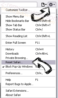 Screen Addict Safari reset menu