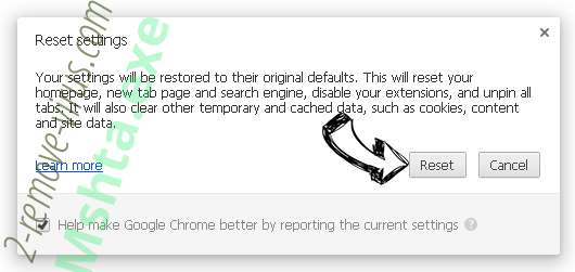 Mshta.exe Chrome reset