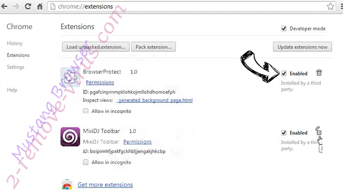 Удаление Safe-web.tk Chrome extensions disable