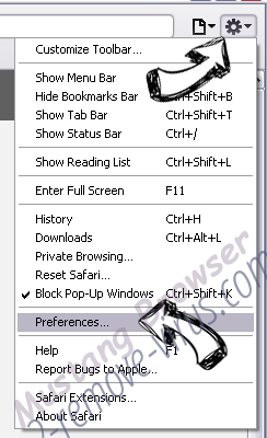 Webar-bho64.dll Safari menu