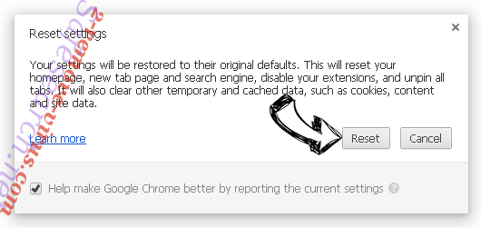 Search.snowballsam.com Chrome reset
