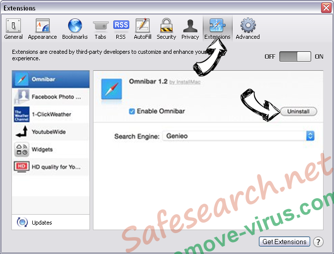 Safesearch.net Safari extensions