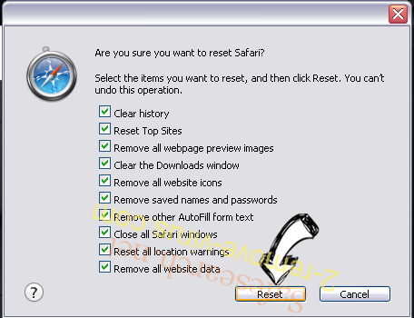 Search.snowballsam.com Safari reset