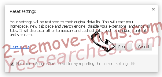Yessearches.com Chrome reset
