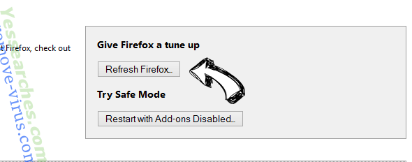 Piesearch Firefox reset
