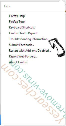 Yessearches.com Firefox troubleshooting