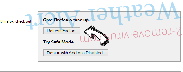 MySearch.com Firefox reset