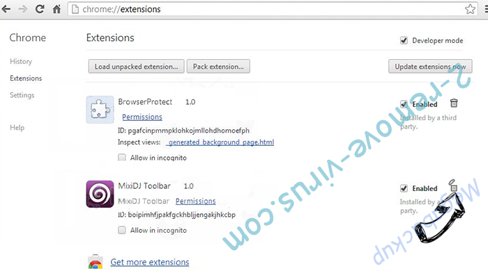 BikaQRssReader Chrome extensions remove