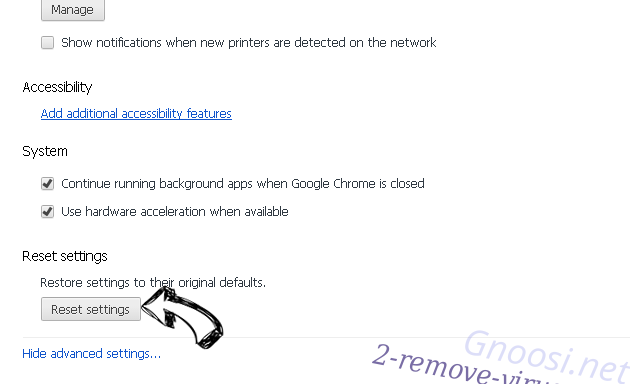 G-search.pro Chrome advanced menu
