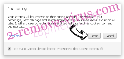 Search Manager Chrome reset