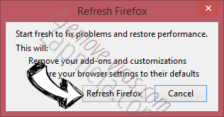 Search Manager Firefox reset confirm