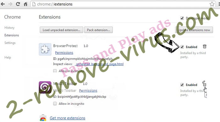 Pass and Play ads Chrome extensions disable