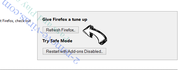 Pass and Play ads Firefox reset