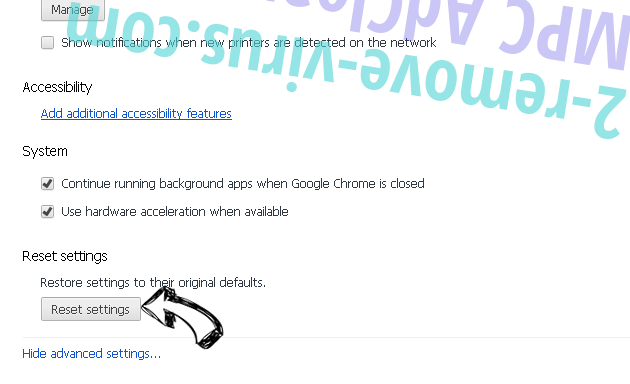 Sharp Angle Ads Chrome advanced menu
