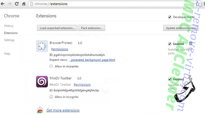 My.yoursearch.me Chrome extensions remove