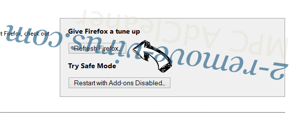 Sharp Angle Ads Firefox reset