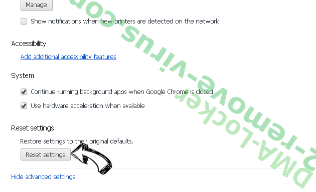 Ad Network Performance Chrome advanced menu