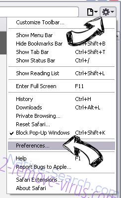 Soft.freeupdating4u.net Safari menu