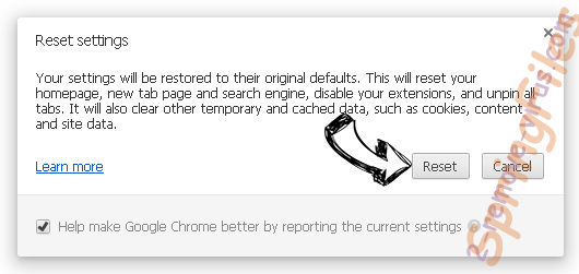 SpringFiles Chrome reset