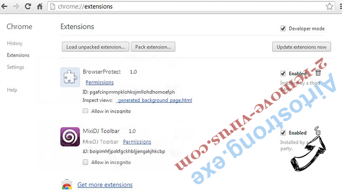 Searchis-poisk.ru Chrome extensions remove