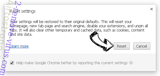 Start Pageing 123 Chrome reset