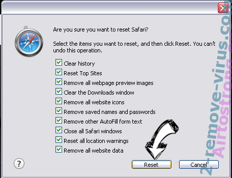 Search.Funtvtab.com Safari reset