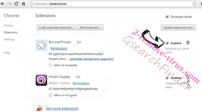 Cash Kitten Chrome extensions disable
