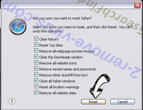 Search.mysafetab.com Safari reset
