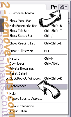 Search.nariabox.com Safari menu