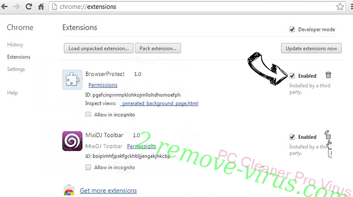 PC Cleaner Pro Virus Chrome extensions disable