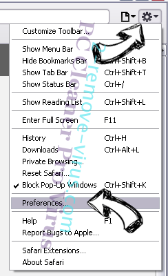 PC Cleaner Pro Virus Safari menu