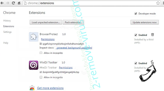 Search.myappzcenter.com Chrome extensions remove