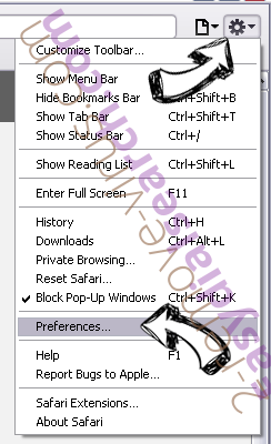 Hyourtransitinfonowpop.com Safari menu