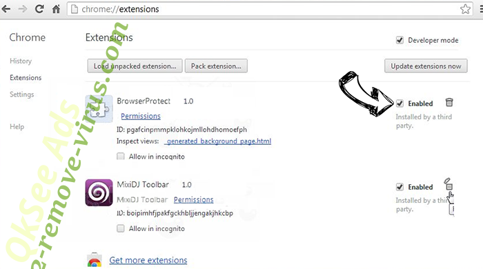 Kyubey Chrome extensions disable
