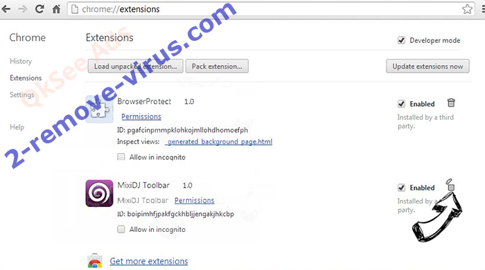 Istartsurf.com Redirect Virus Chrome extensions remove
