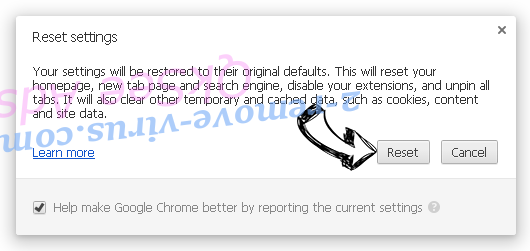 Istartsurf.com Redirect Virus Chrome reset