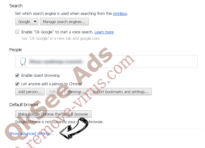 Websearch.exitingsearch.info Chrome settings more