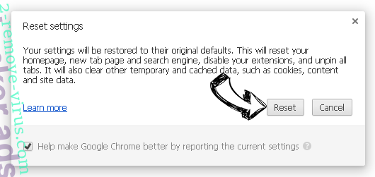 Blogcreative.org Chrome reset