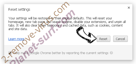 Planet-surf.com Chrome reset