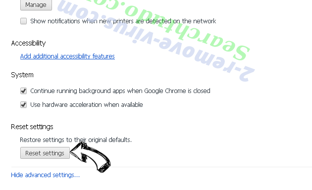 Triangulum Ads Chrome advanced menu