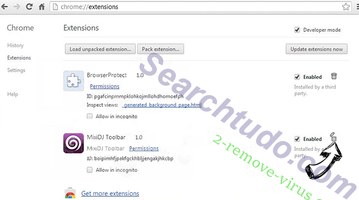 Searchtudo.com Chrome extensions remove