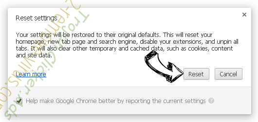 About Blank Chrome reset