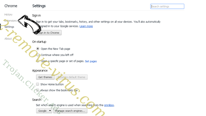 Newtabtools.com Chrome settings