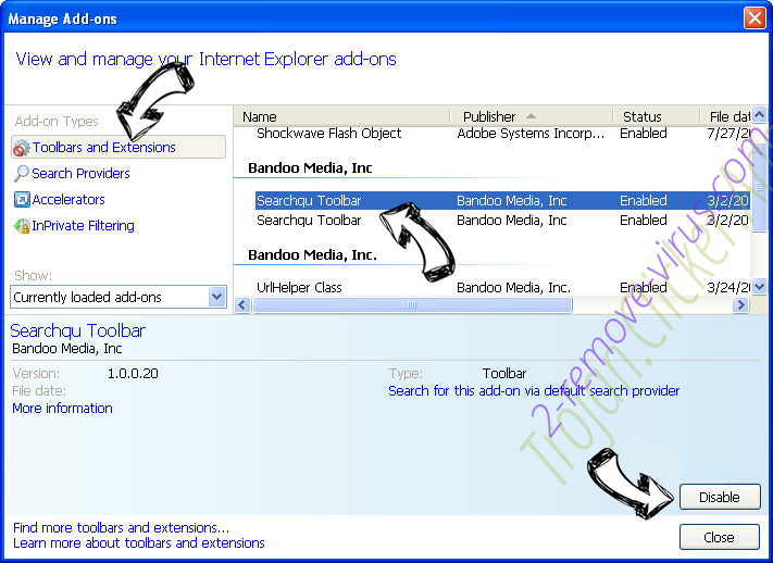 Search-smart.work virus IE toolbars and extensions